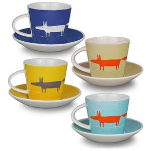 Mr. Fox espressokopjes  set van 4 Tony Baert